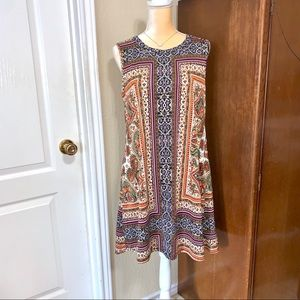 AB STUDIO Patterned Shift A-Line Dress Like New